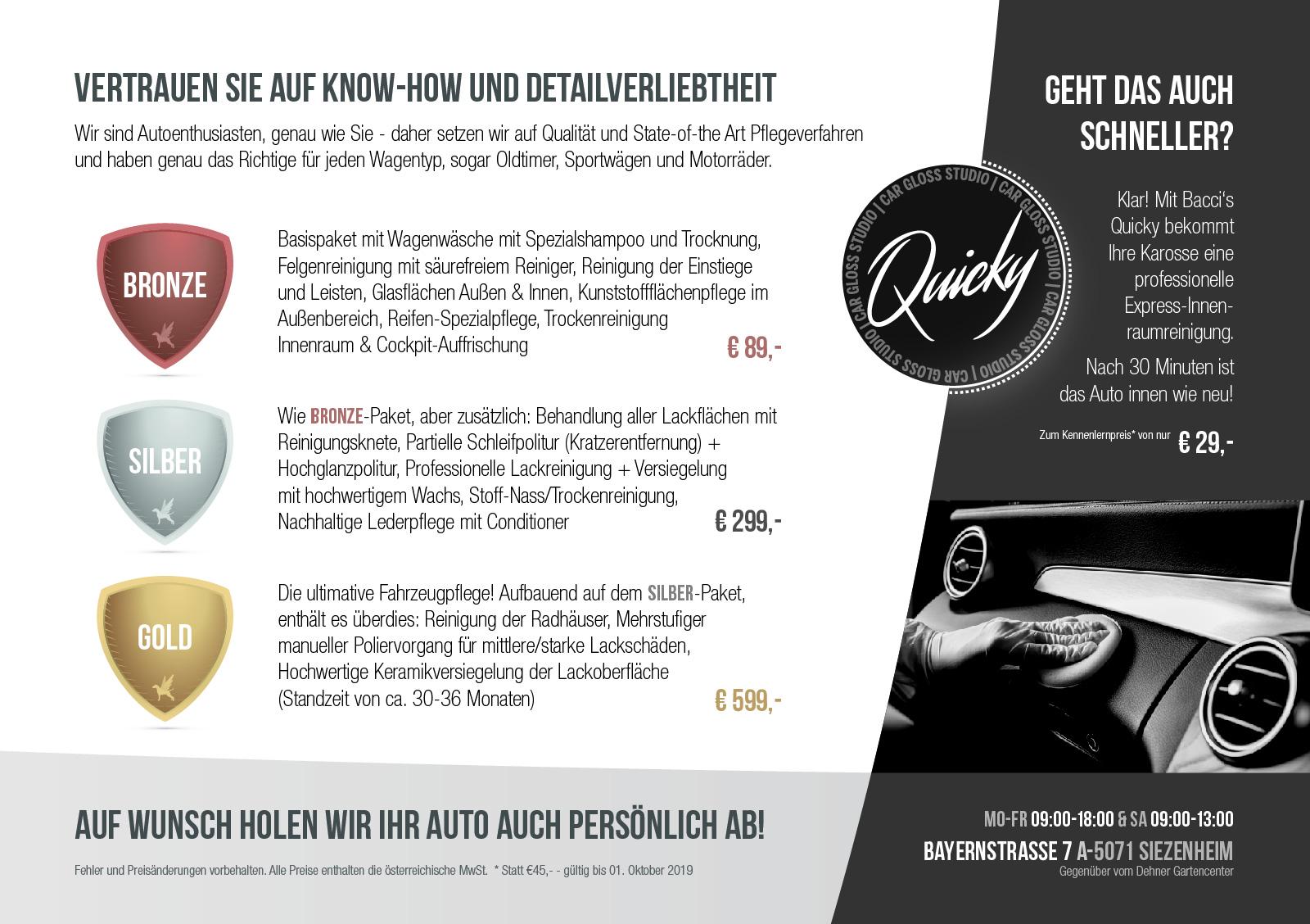 Car Gloss Studio Flyer